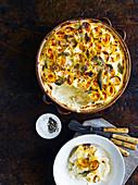 Cannelloni mit Butternusskürbis, Salbei und Walnüssen