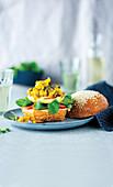 Halloumi burgers with quick cauliflower piccalilli
