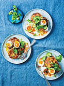 Curried potato and cabbage cakes with omit eggs