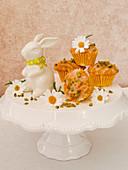 Minimuffins mit Möhren, Nüssen und Pistazien zu Ostern