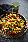 Mediterranean vegetable paella