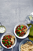 Five Bean Chilli with rice