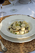 Ricotta and marjoram gnocchetti with porcini mushrooms