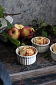 Apples baked in ramekins