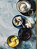 Blueberry and lemon eton mess