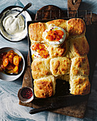 Buttermilk scones with apricot and pink peppercorn