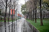 Empty park during coronavirus outbreak in China,2020