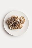 A plate of maitake mushrooms