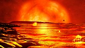 Red giant Sun,illustration