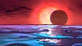 Europa in the future,illustration