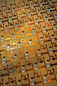 Copper printed array elements.
