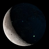 Crescent Moon with rock size abundance map