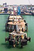 Mooring jetties for cross channel ferries, UK