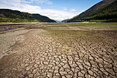 Drought at Thirlmere reservoir, Cumbria, UK