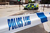 Police cordon, London, UK
