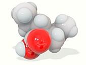 Valproic acid anticonvulsant molecule, illustration