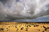 Cumulus clouds over Pinnacles Desert, Western Australia