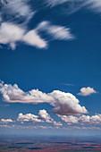 Cumulus humilis clouds
