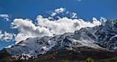 Cumulus humilis clouds forming over New Zealand mountains