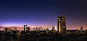 Planets in morning twilight over Tel Aviv, Israel