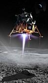 Apollo 11 moon landing, composite image