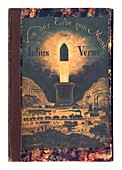 Cover of From the Earth to the Moon, by Jules Verne, 1875