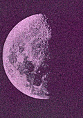 First Quarter Moon, 1877, illustration