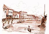 Docks in Singapore, 18th century