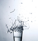 Drinking glass exploding
