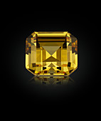 Asscher cut diamond gemstone