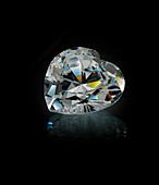 Heart cut diamond gemstone