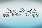 Brilliant cut diamond gemstones