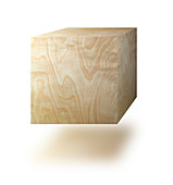 Cube made from wood, illustration