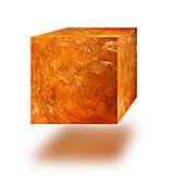 Rusty cube, illustration