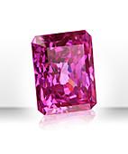 Pink rectangular gemstone