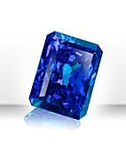 Blue rectangular gemstone