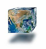 Earth cube, illustration