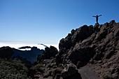 Hiker at Caldera de Taburiente, La Palma