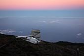 Galileo telescope at dawn, La Palma