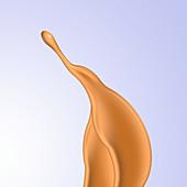 Paint splash, illustration