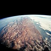 Andes mountains and Atacama desert, shuttle image