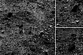 Surface of Bennu asteroid, OSIRIS-REx images