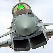 Royal Air force Eurofighter Typhoon in flight