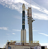 Delta II launch vehicle carrying GPS II-28 satellite