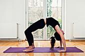 Yoga bridge position