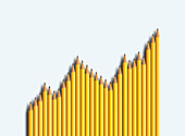 Business graph, conceptual illustration