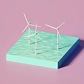 Windturbines, illustration