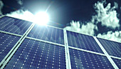 Solar panels, illustration