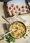 Spiced cauliflower rice stuffing