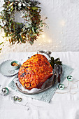 Best-ever sticky orange and golden syrup ham